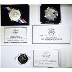 3 COMMEM COINS:  2006  SILVER DOLLAR FRANKLIN