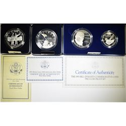 LOT OF COMMEM COINS:  1993 BILL OF RIGHTS SILVER
