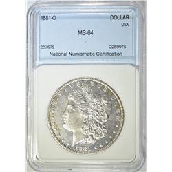 1881-O MORGAN DOLLAR  NNC CH BU