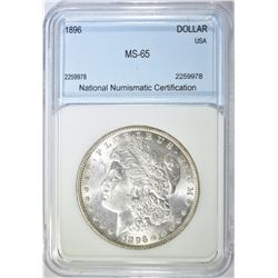 1896 MORGAN DOLLAR  NNC  GEM BU
