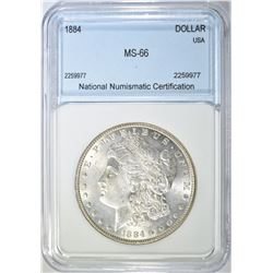 1884 MORGAN DOLLAR  NNC SEPERB GEM