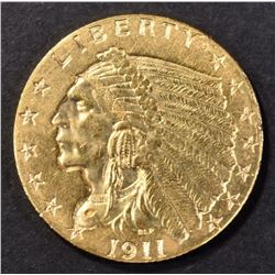 1911-D $2.5 GOLD INDIAN  CH BU