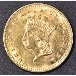 1857 GOLD DOLLAR CH BU