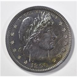 1896 BARBER QUARTER GEM PROOF SUPER COLOR!