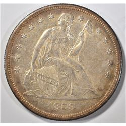 1859-O SEATED LIBERTY DOLLAR CH BU