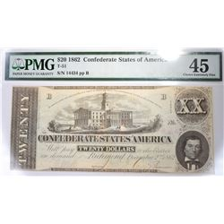 1862 $20 CSA PMG 45 CHOICE EXTREMELY FINE