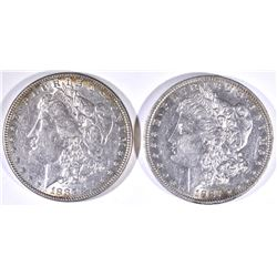 1883 & 1887-O AU MORGAN DOLLARS