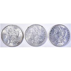 1879, 82 & 86 CH BU MORGAN DOLLARS