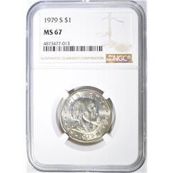 1979-S SUSAN B. ANTHONY DOLLAR, NGC MS-67