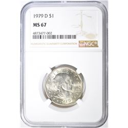 1979-D SUSAN B ANTHONY DOLLAR, NGC MS-67