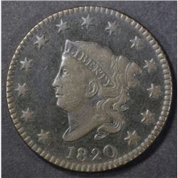 1820 LARGE CENT, VF