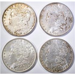 (4) 1887 MORGAN DOLLARS  BU
