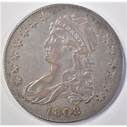 1808 CAPPED BUST HALF DOLLAR  NICE AU