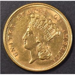 1854 GOLD $3 INDIAN PRINCESS HEAD  CH BU