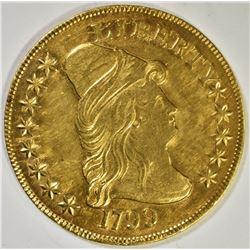 1799 $10 GOLD  AU+  RARE!!