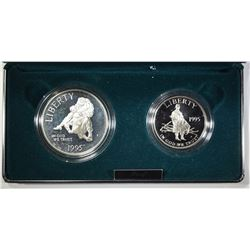 1995 2-COIN CIVIL WAR PROOF SET