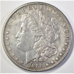 1888-S MORGAN DOLLAR AU CLEANED
