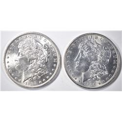 1888-O & 1886 MORGAN DOLLARS CH BU