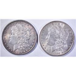 1896 & 97 CH BU MORGAN DOLLARS NICE!