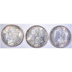 1900, 1900-O & 1901-O CH BU MORGAN DOLLARS