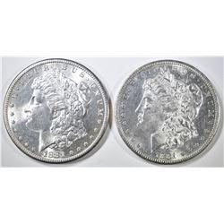 2-CH BU 1881-S MORGAN DOLLARS