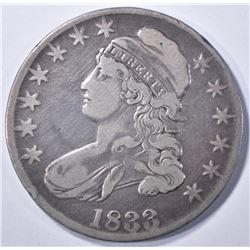 1833 BUST HALF DOLLAR, VF