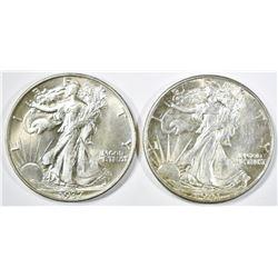 1937 & 1941 WALKING LIBERTY HALF DOLLARS