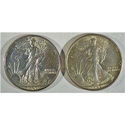 1943 & 1943-S WALKING LIBERTY CH BU