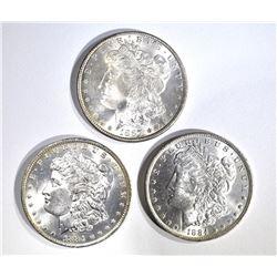 2-1884-O & 1887 CH BU MORGAN DOLLARS