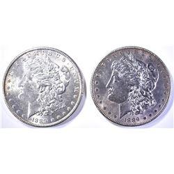 2-CH BU 1889 MORGAN DOLLARS