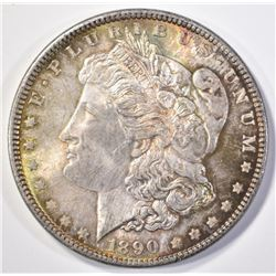 1890 MORGAN DOLLAR  CH BU  TONED