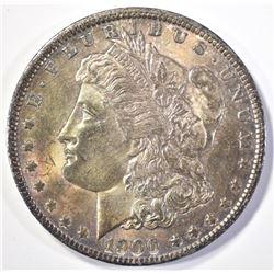 1900-O MORGAN DOLLAR  CH BU  COLOR