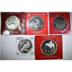 STERLING SILVER FOREIGN COINS