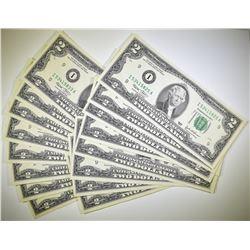 16-2003 $2.00 FRN CONSEC SR# I-53415825-840 ALL CU