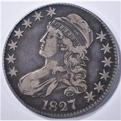 1827 BUST HALF DOLLAR, VF