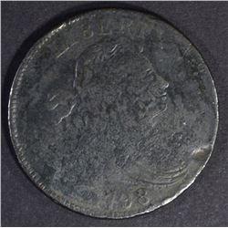 1798 DRAPED BUST LG CENT S-159 FINE, RARE VARIETY