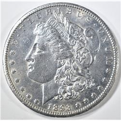 1893-CC MORGAN DOLLAR   AU+