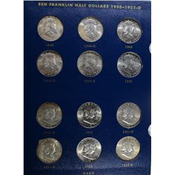 FRANKLIN HALF DOLLAR SET GEM BU