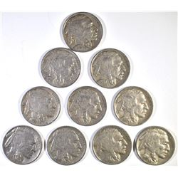 10-1931-S BUFFALO NICKELS, VG-FINE