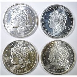 4-ONE OUNCE SILVER MORGAN DOLLAR REPLICAS