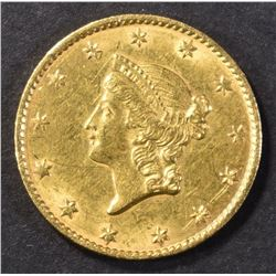 1849 TYPE 1 GOLD DOLLAR AU/BU