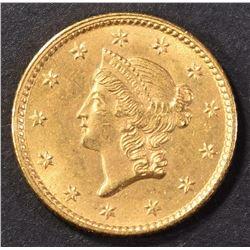 1853 TYPE 1 GOLD DOLLAR CH BU