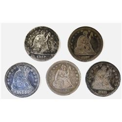 CIRC SEATED LIBERTY QUARTERS: