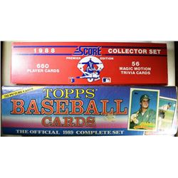 1988 SCORE COLLECTOR SET & 1989 TOPPS