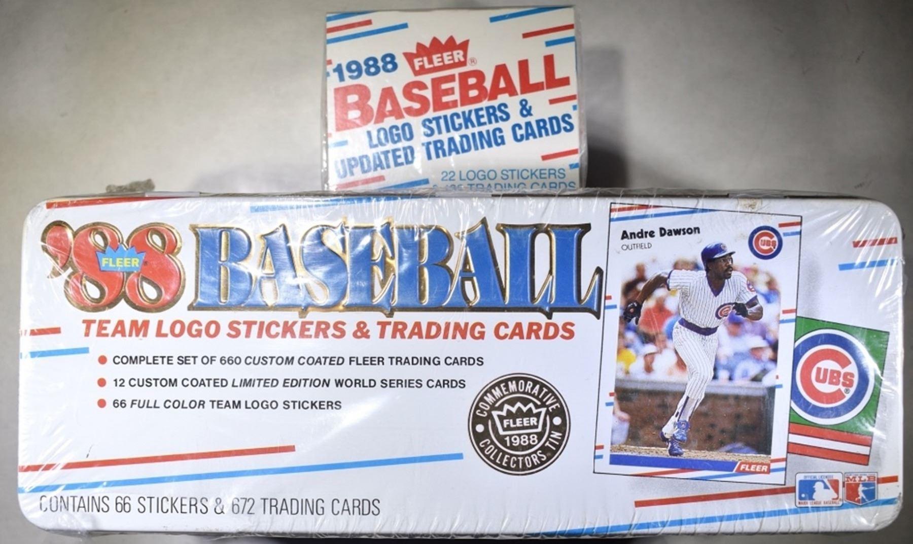 2 1988 Baseball Logo Stickers
