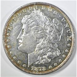 1878 8TF MORGAN DOLLAR, BU SEMI-PL