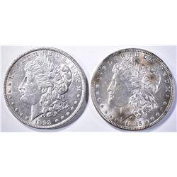 1885 & 98 CH BU MORGAN DOLLARS
