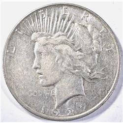 1927-D PEACE DOLLAR, AU
