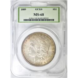 1889 MORGAN DOLLAR, GCGS SUPERB GEM BU++