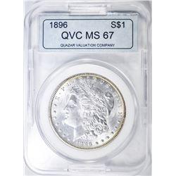 1896 MORGAN DOLLAR, QVC SUPERB GEM BU TONING